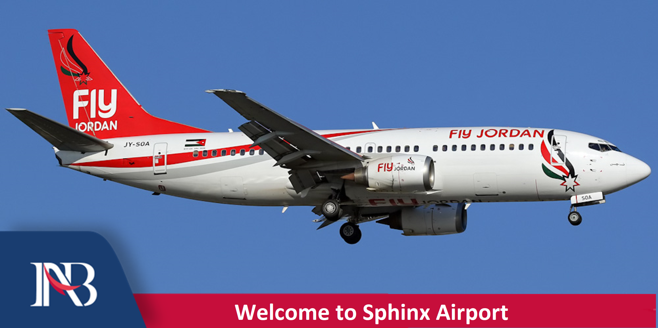 First Flight to Sphinx Airport